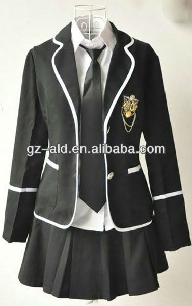 cba20eef057 newest hot sale long sleeve japanese high school uniform middel ...