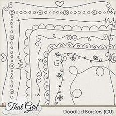 Simple border designs to draw on paper