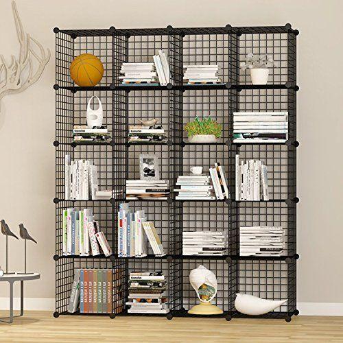 Kousi Storage Cubes Wire Grid Modular Metal Cubbies Organizer