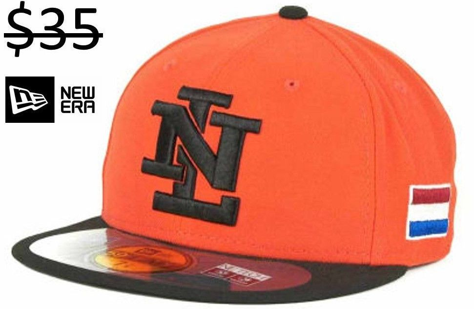 5d3fb8611 Netherlands Team Men New Era 59Fifty Fitted MLB World Baseball ...
