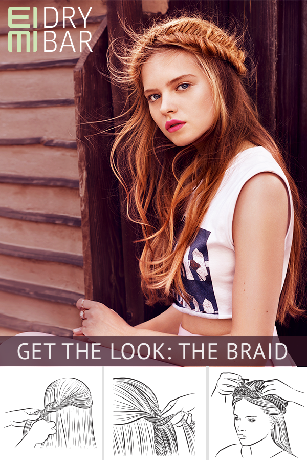 Get The Look The Braid Discover This Natural Handmade Look Using Eimi Ocean Spritz And Just Brilliant Visit A Wella Hair Styles Long Hair Styles Hair Looks