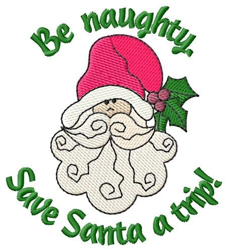 Be Naughty Embroidery Design Annthegran Christmas Embroidery