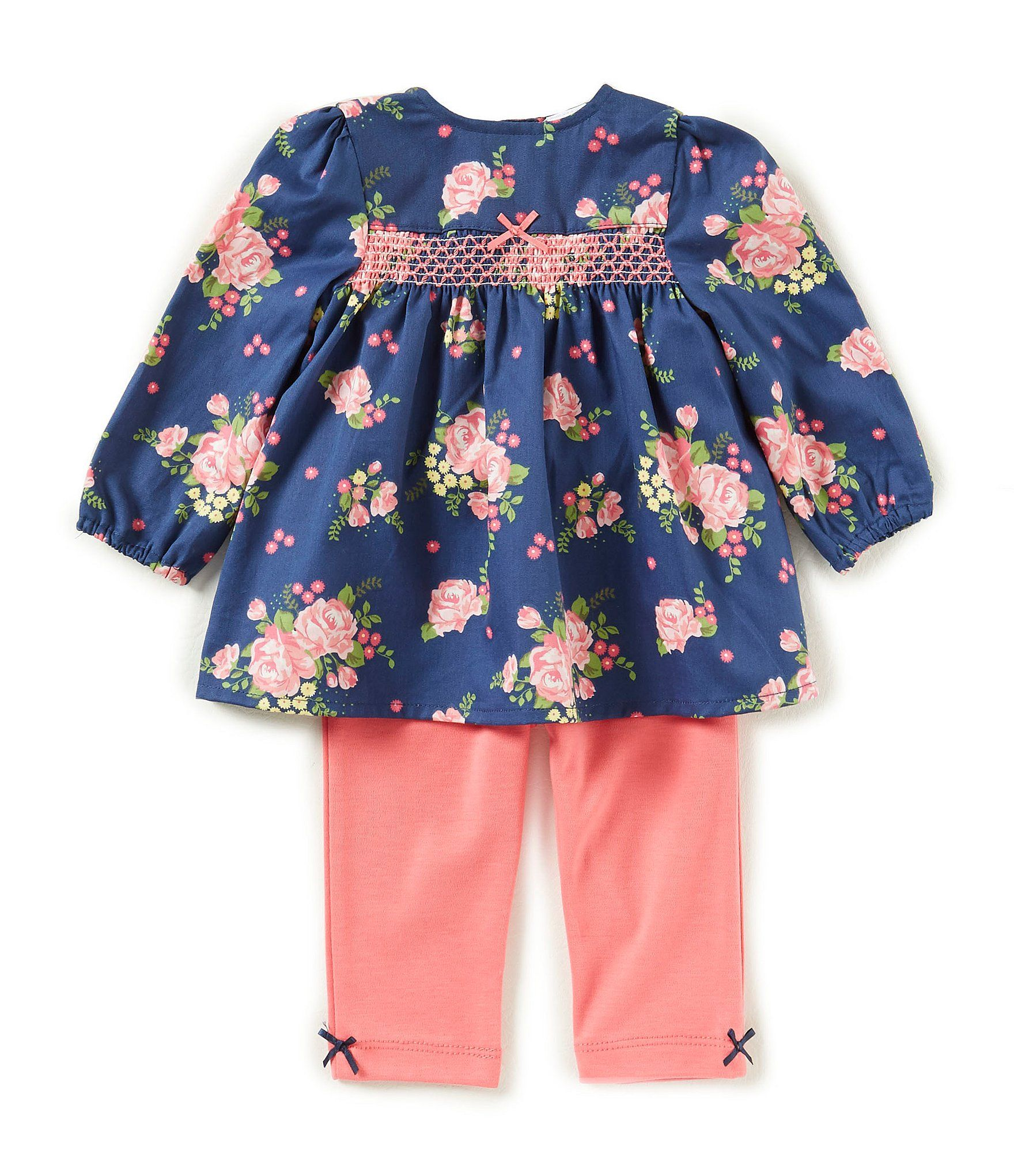 Little Me Baby Girls 3 12 Months Floral Print Top & Solid Leggings