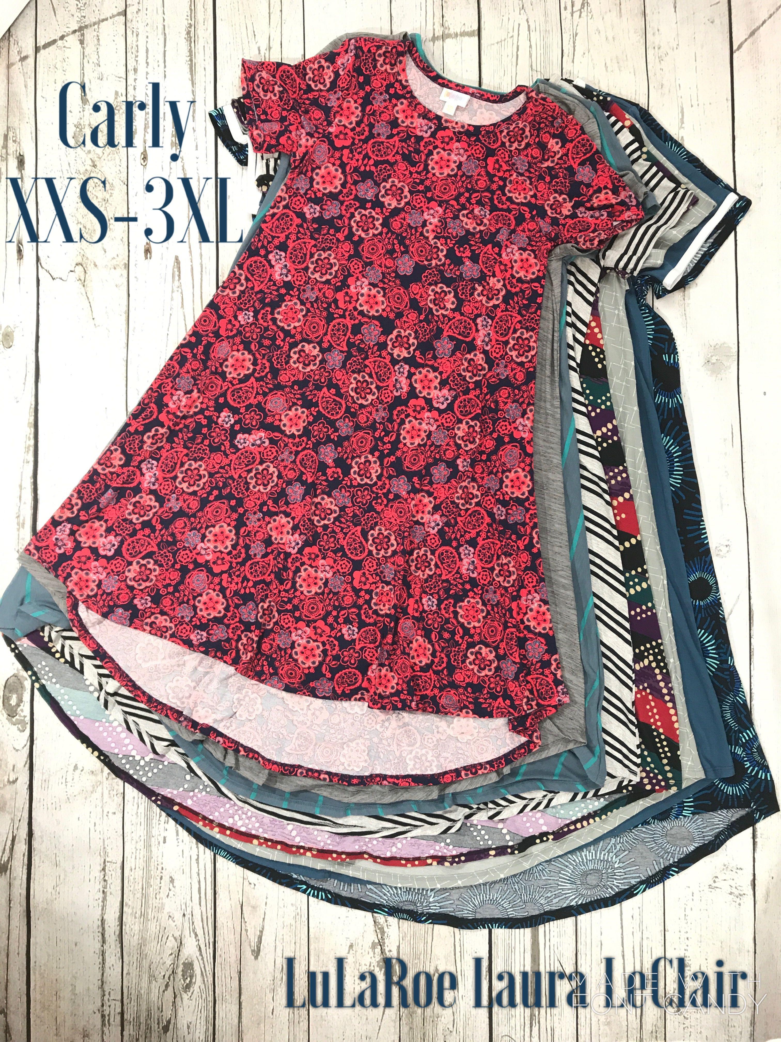 b900c34daa1 LuLaRoe Carly dress sizes xxs-3xl size comparisons