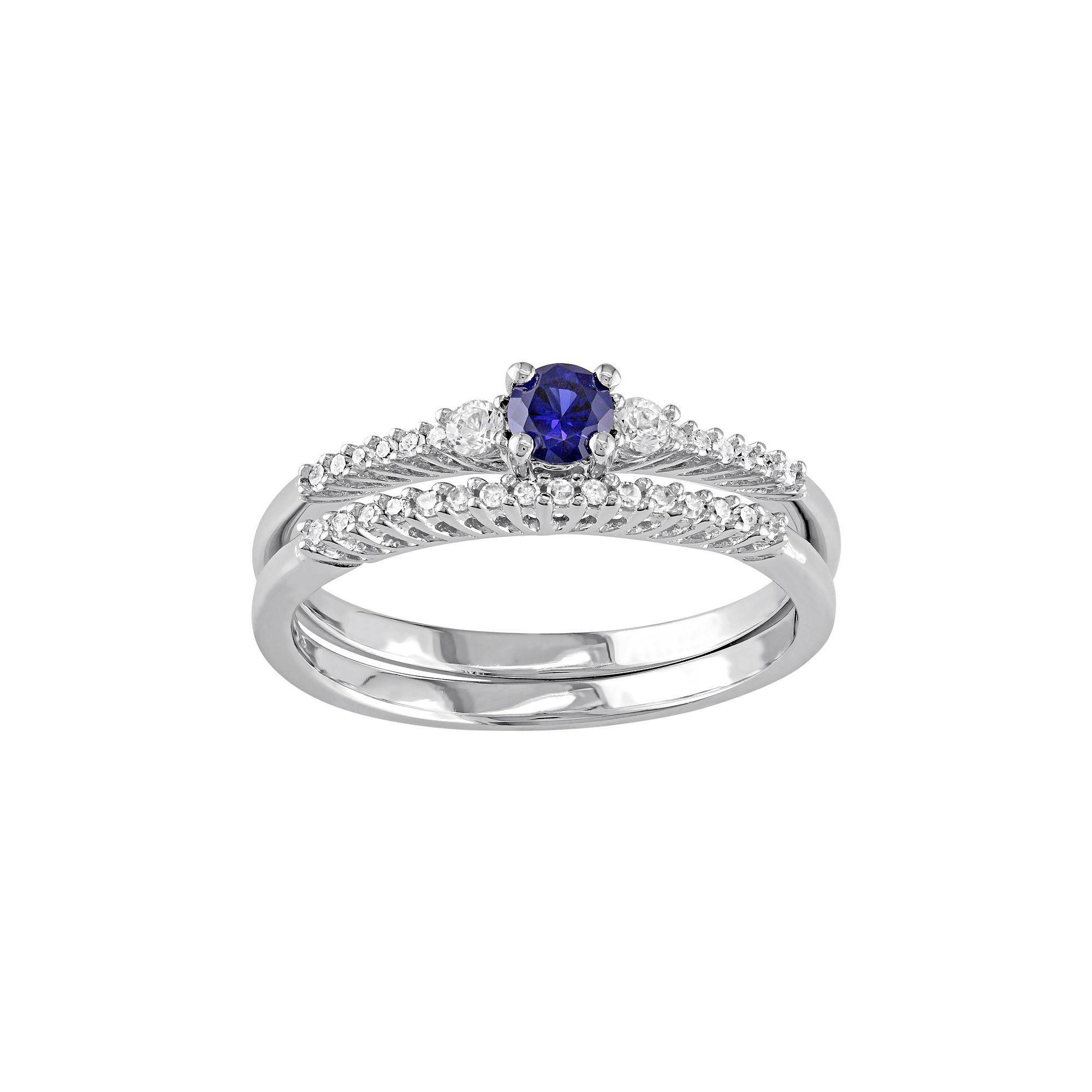 black white created size goldfinger beautiful s ring blue gold of women sapphire rings engagement awesome lab