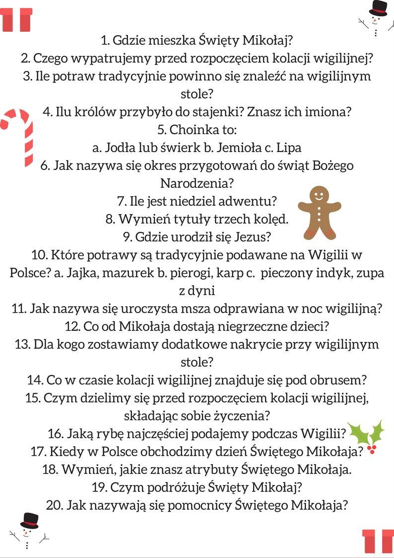 Mamo Nudzi Mi Sie Czyli W Co Sie Bawic Swiateczny Quiz Dla Dzieci Handmade Christmas Decorations Creative Activities Kids And Parenting