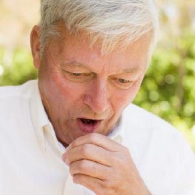 throat breath tickles Taking deep