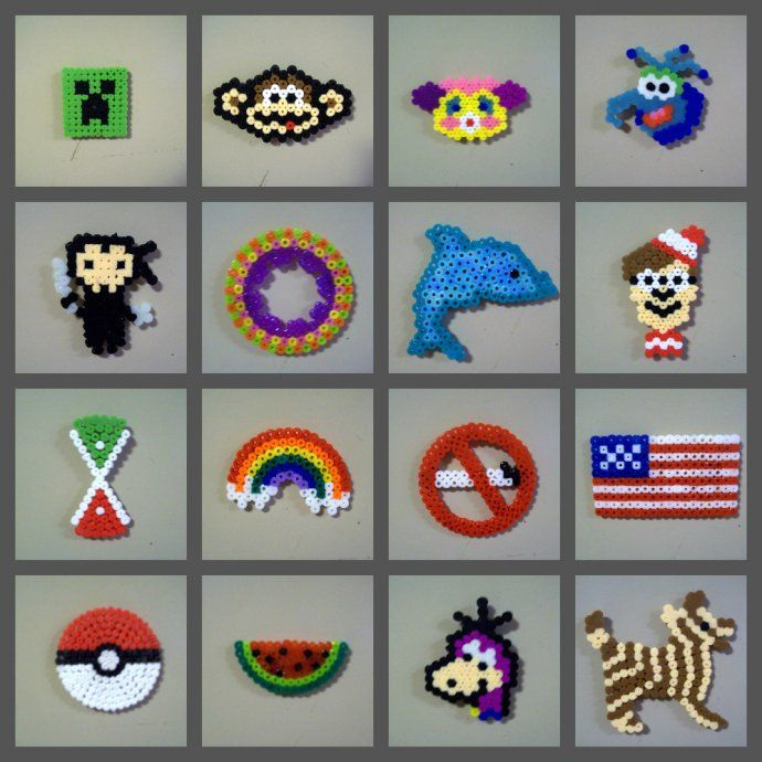 small perler bead magnets by matches 2001 meltey bead fun pinterest perler beads hama. Black Bedroom Furniture Sets. Home Design Ideas