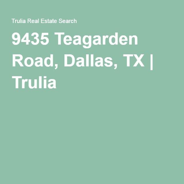 Trulia Real Estate Listings Homes For Sale Housing Data: 9435 Teagarden Road, Dallas, TX
