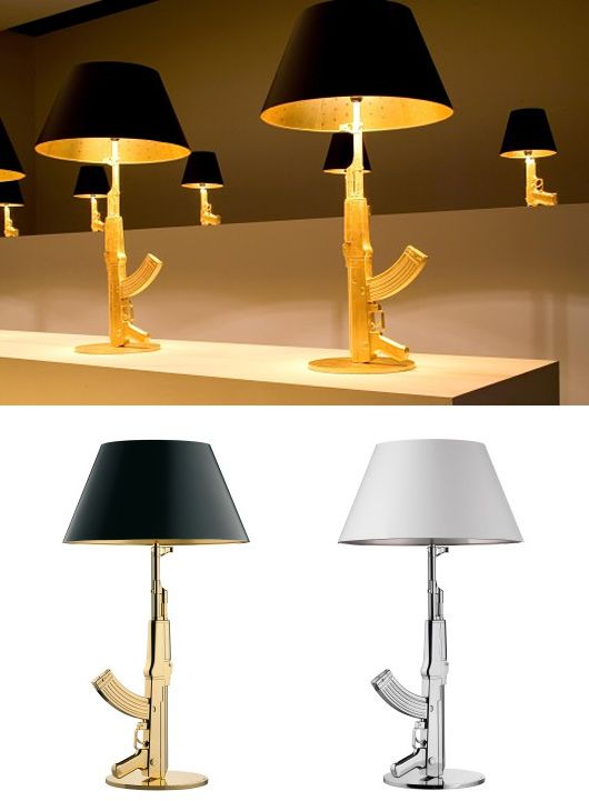 gun lamp collection by philippe starck inspiration grid. Black Bedroom Furniture Sets. Home Design Ideas