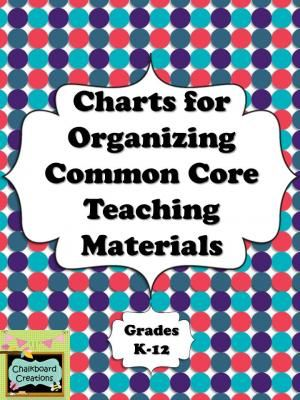 FREE+Charts+for+Organizing+Common+Core+Teaching+Materials+from+Chalkboard+Creations++on+TeachersNotebook.com+-++(3+pages)++-+FREE+Two+different+kinds+of+charts+for+organizing+all+your+teaching+materials+for+the+Common+Core.+Just+print+out+whichever+chart+you+would+like+to+use+and+attach+it+to+the+inside+of+a+file+folder.+Record+any+books,+manipulatives,+technology,+or+games+you