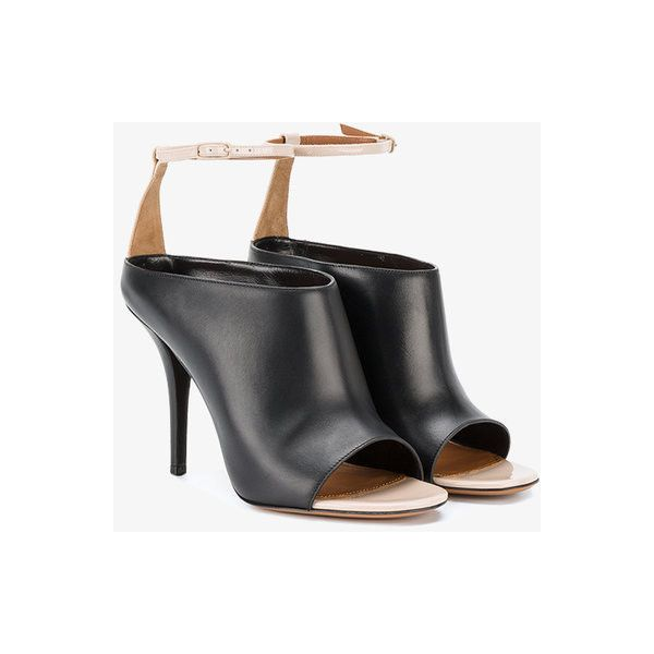 acebd49406914 Givenchy ankle strap mules ($710) ❤ liked on Polyvore featuring shoes, black,  open-toe mules, open toe mules shoes, ankle wrap shoes, black open toe mules  ...