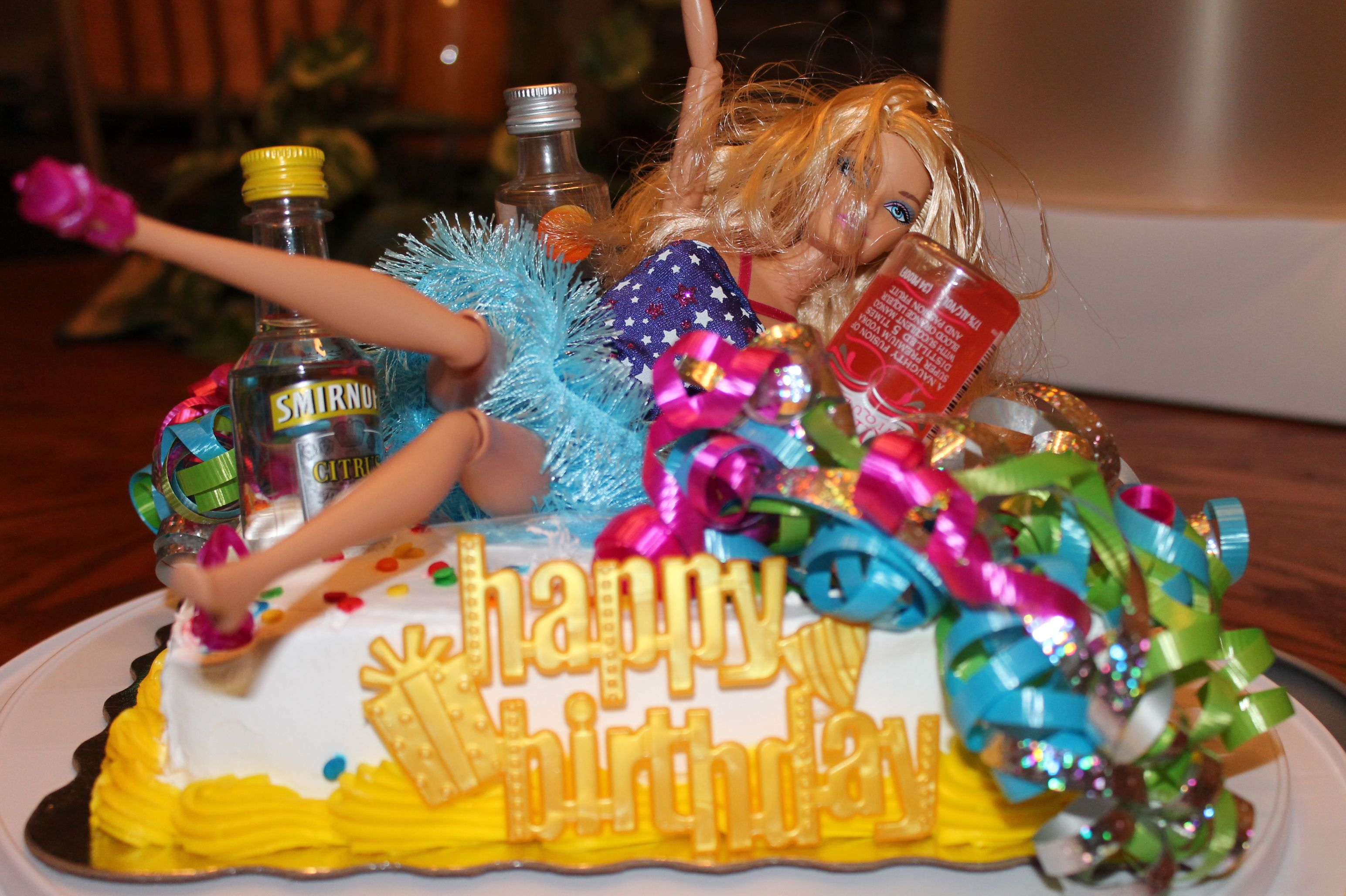Drunk Barbie Cake For A Fabulous 21 Year Old 5 25 13 My