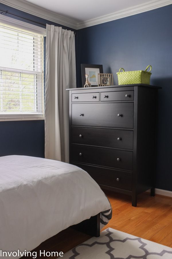 Navy Green And Gray Boy S Nursery Ideas With Ikea Hemnes Dresser In Black Brown Brown Living