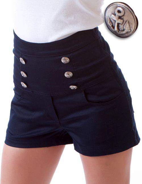 heetheadz.com sailor-high-waisted-shorts-04 #highwaistedshorts ...