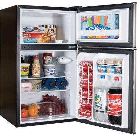 Home Dorm Fridge Mini Fridge Two Door Refrigerator
