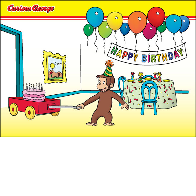 Swell Contact Us Curious George Party Curious George Birthday Personalised Birthday Cards Veneteletsinfo