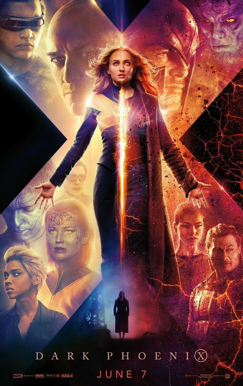 X Men Dark Phoenix Poster 48x32 40x27 36x24 Movie Film 2019 X Men Print Dark Phoenix Jean Grey X Men