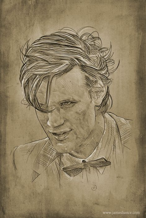 Latest Doodle: 'The Eleventh' (Doctor Who / Matt Smith)  James Hance