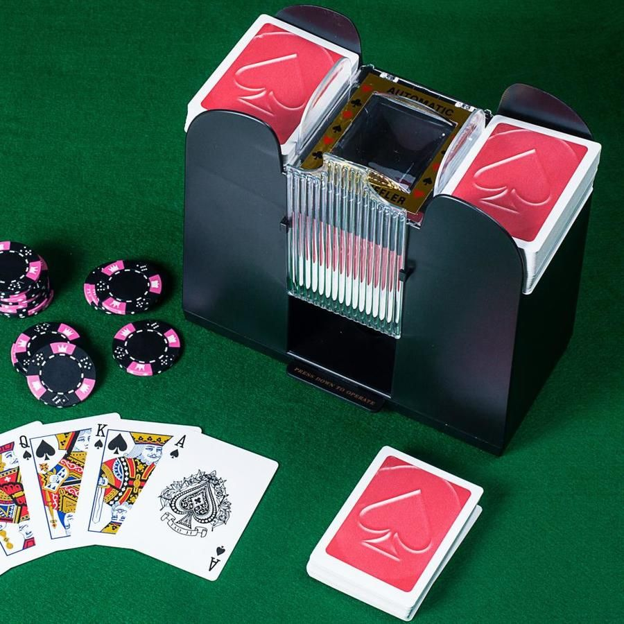 Toy Time Playing Card Shuffler Automatic Battery Operated 6 Deck Casino Dealer Travel Machine Dispenser By Toy Time Lowes Com In 2021 Playing Card Deck Electronic Cards Poker Cards