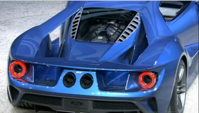 All New Ford Gt Rear End View