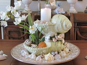 sea shell centerpiece, crafts, home decor, The end result
