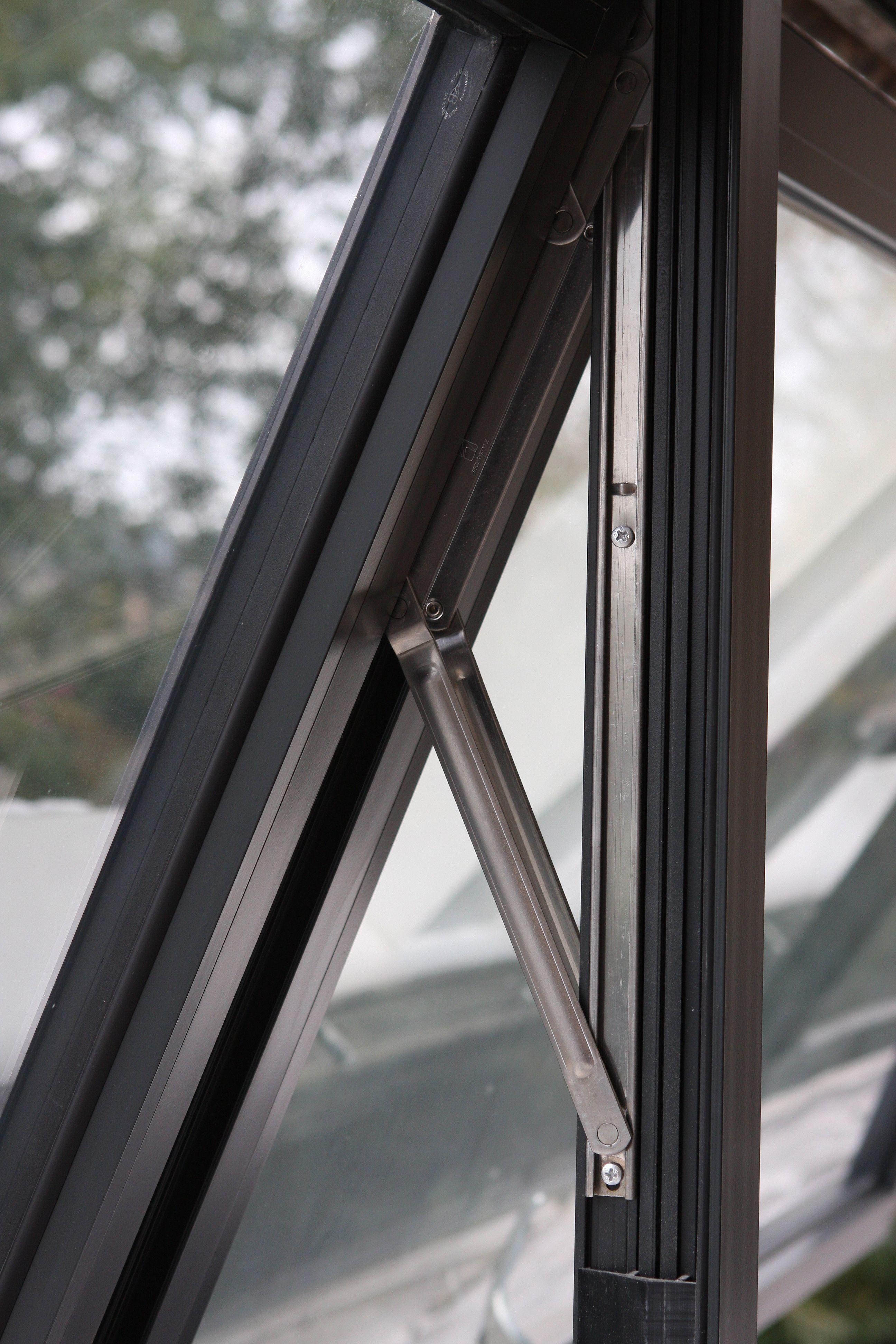 Contemporary aluminium casement windows installed onto