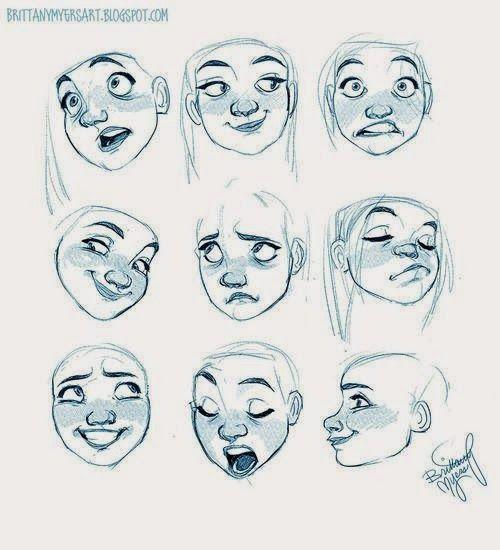 Cartoon Character Design Tutorials : Week facial expressions drapery emotions