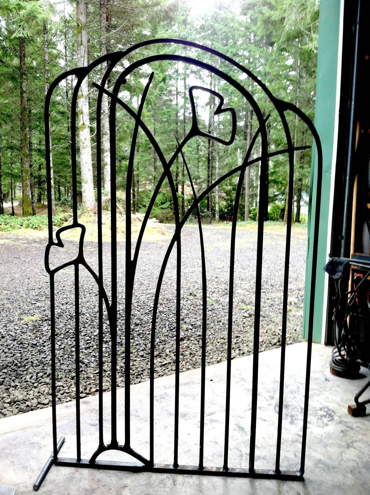 Garten Jugendstil ginkgo in the grass forged blacksmithing