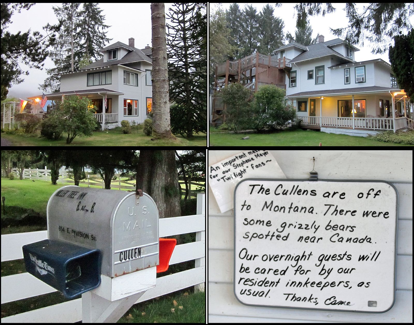 The Cullen House IN Forks is the Miller Tree Inn (Site #10 of http