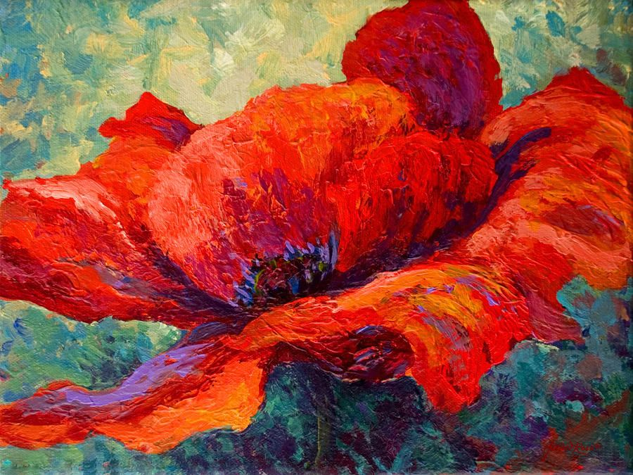 Red Poppy Iii By Marion Rose Art Painting Prints