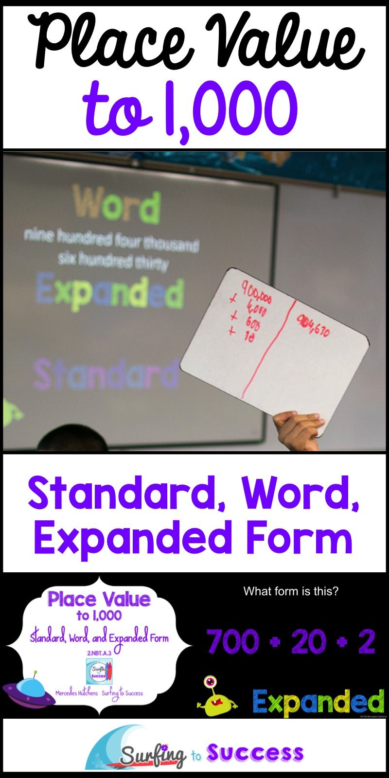 Place Value To A Thousand Standard Word And Expanded Form To