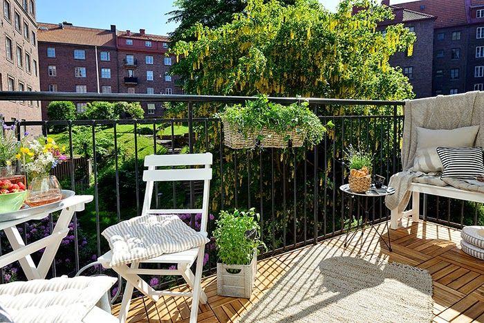 Ideas para decorar una pequeña terraza o un balcón grande