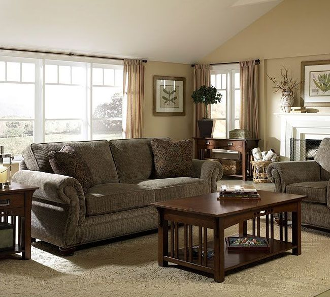 Laramie 5081 Sage Sofa Group In Stock Green Leather Broyhill