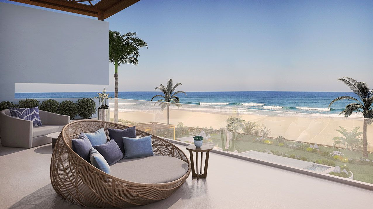 Fairmont Residences Taghazout Bay Morocco Icon Private Residences Modern Architectural Styles Outdoor Bed Fairmont