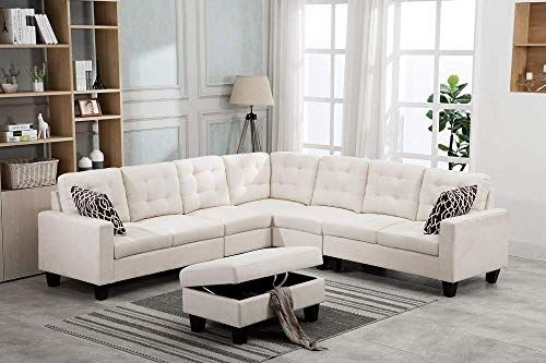 Best Legend Vansen 1817 3 3 F1817 3 3 Sectional Beige Sectional Sectional Sofa 400 x 300