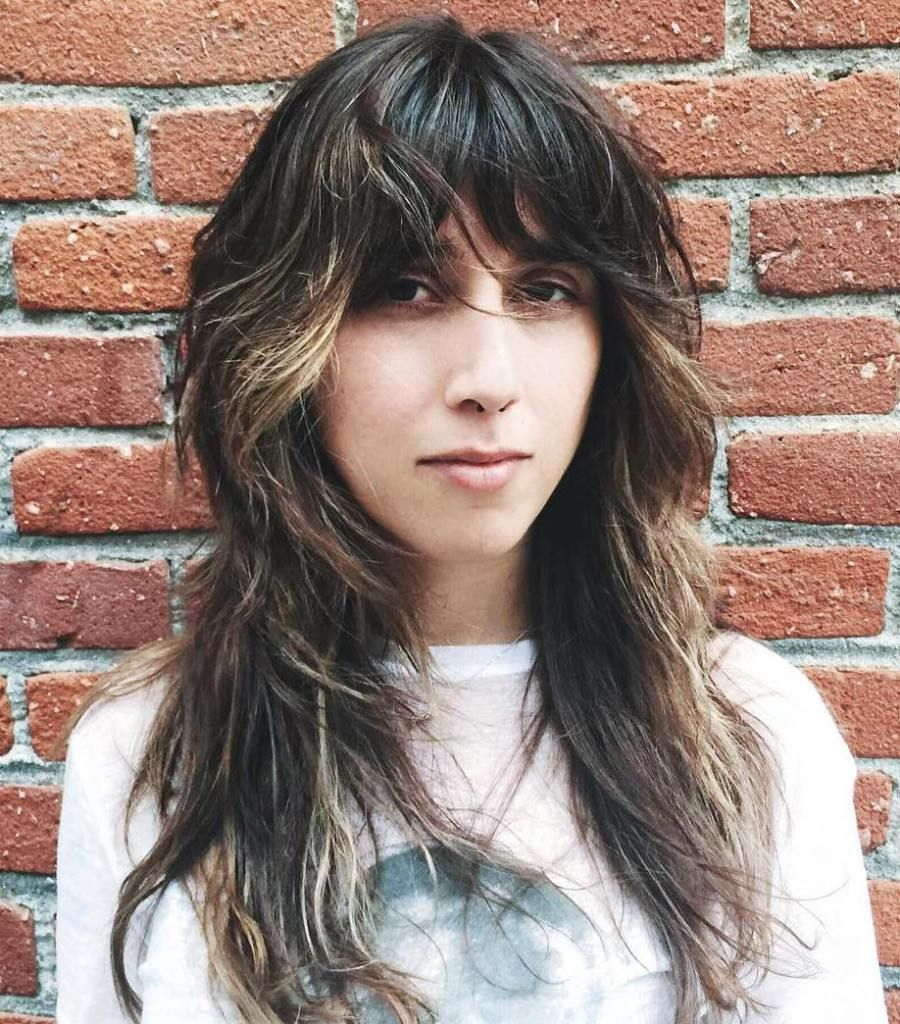 50 Lovely Long Shag Haircuts For Effortless Stylish Looks Fringes