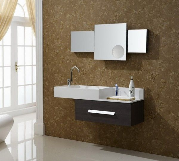 Awesome [post_title] Bathroom Vanities With Wallpaper - http://ericjoe.com/bathroom-vanities-with-wallpaper/ #Bathroom