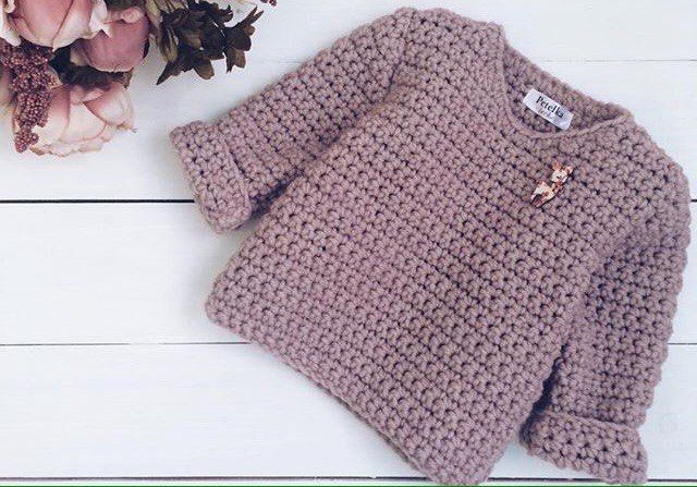 ac84118233a5e7 Click to view pattern for - Crochet warm pullover