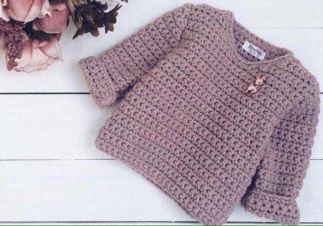 5f2b3c012e18 Crochet warm pullover