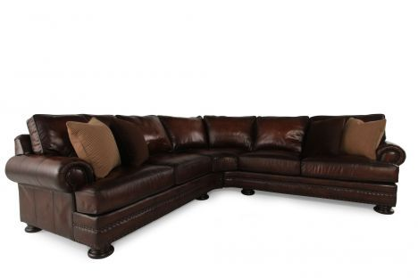 Bht 5091lmo 5092lmo Bernhardt Foster Leather Sectional Mathis