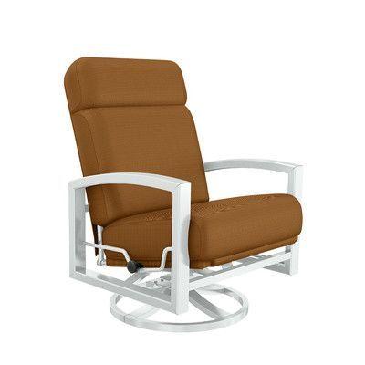 Tropitone Lakeside Patio Chair With Cushion Fabric Canvas Cork Frame Color Snow Patio Chairs Rocking Chair Cushions