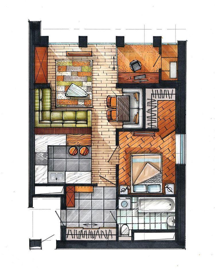 Gambar Mungkin Berisi Luar Ruangan Sketsa Arsitektur Denah Rumah Desain Interior