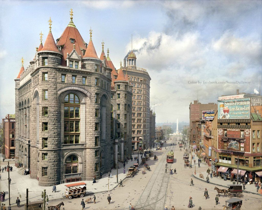 Niagara Street Buffalo N Y 1908 Close Ups In Comments New