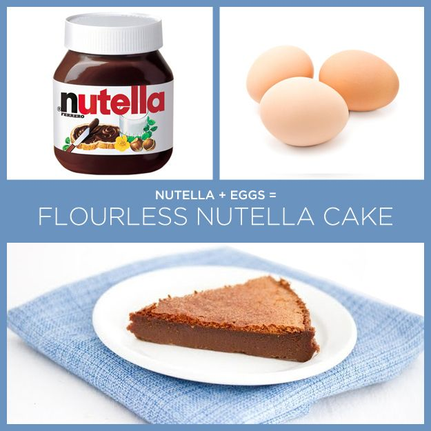 Nutella Eggs Flourless Nutella Cake 34 Insanely Simple Two