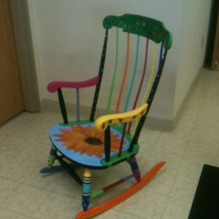 Hand painted adult rocking chairs