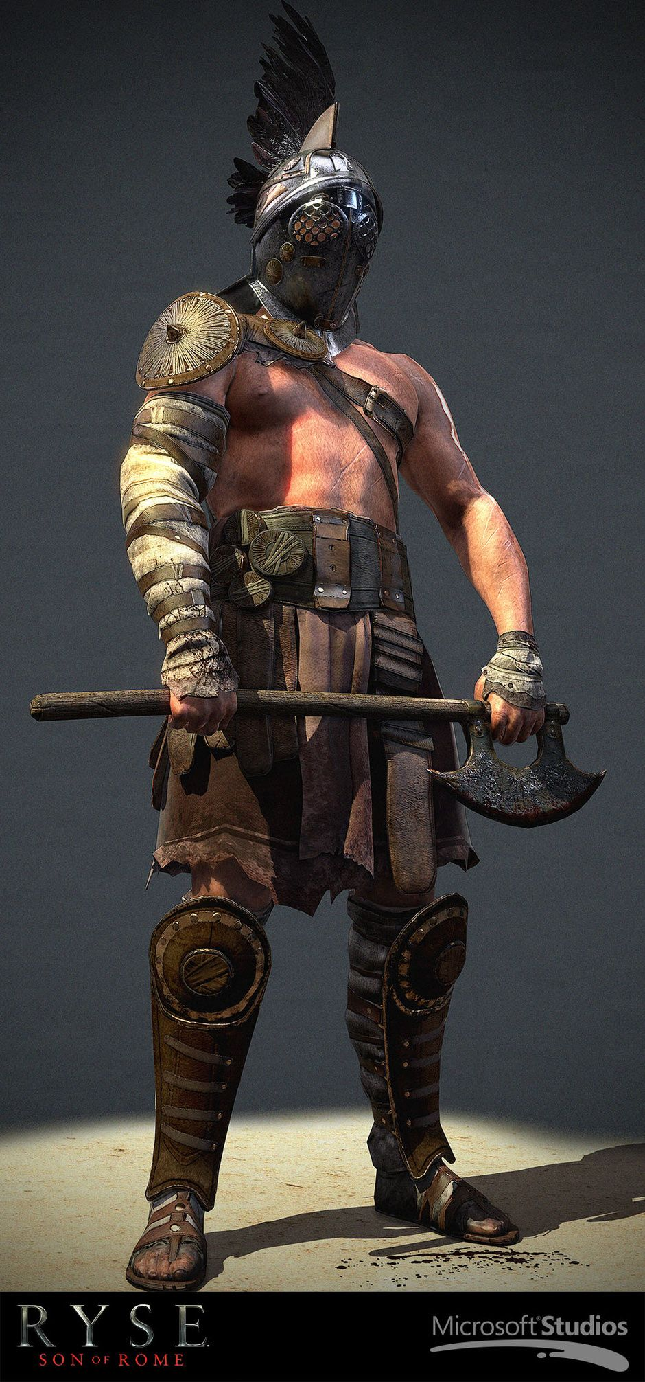 In game gladiator ryse son of rome by joel mongeon for Disegno 3d online