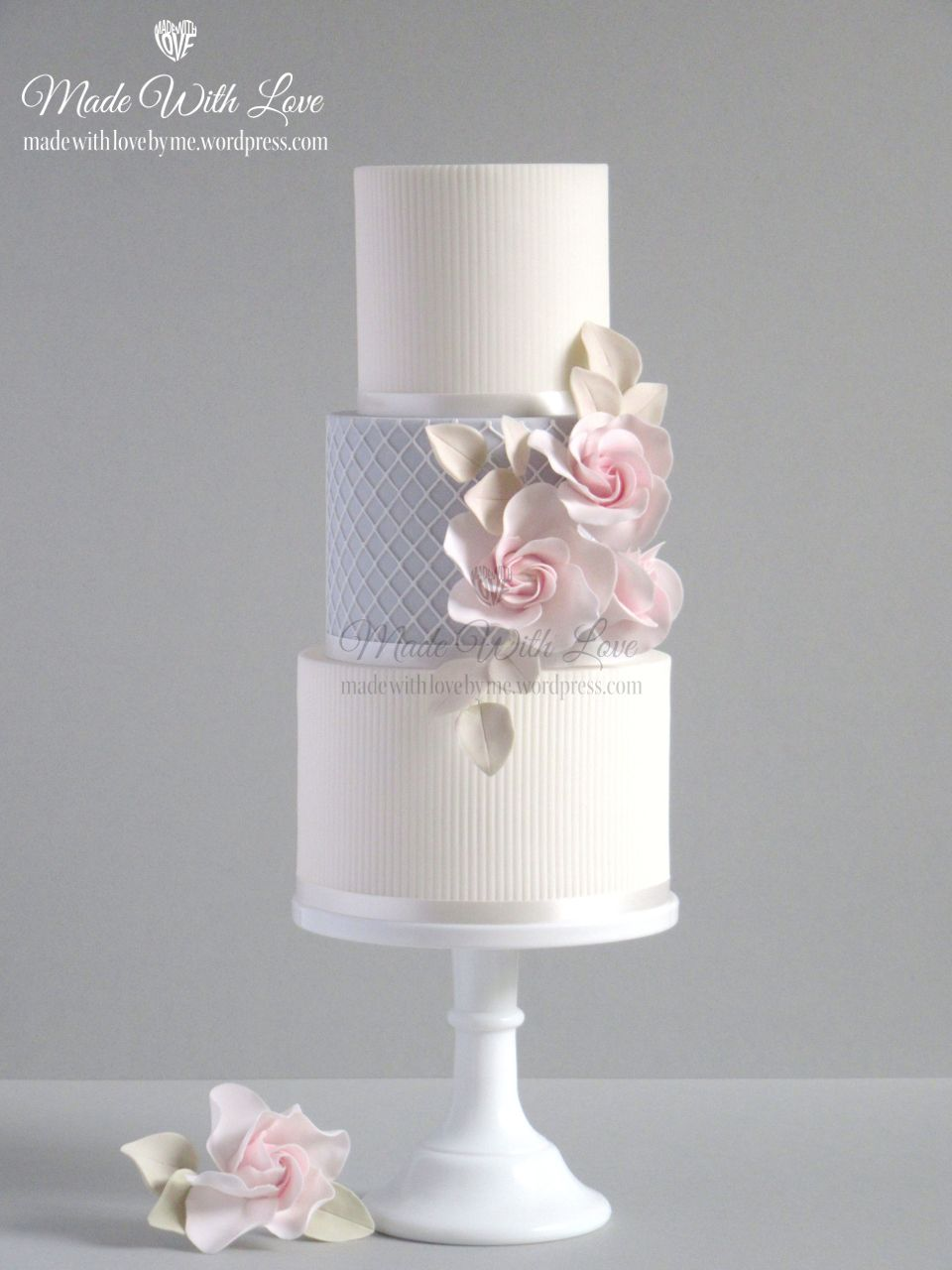 Pink Rose And Net Cake Pink Roses Cake And Wedding Cake