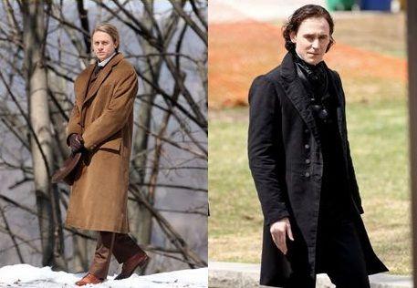 Tom Hiddleston and Charlie Hunnam on the set of Crimson Peak...I need this movie...like NOW!