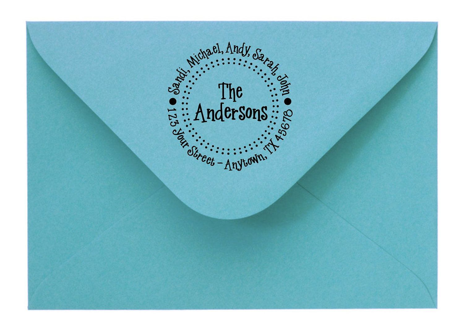 Personalized Custom Made Return Address Rubber Stamps  $7.50, via Etsy. Christmas gifts?
